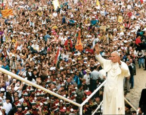 Blessed Pope John Paul II at World Youth Day in Poland