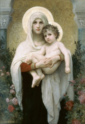 madonna of roses