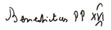 Benedict XVI signature
