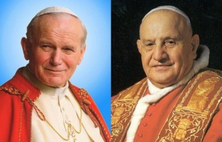 St. John Paul II and St. John XXIII