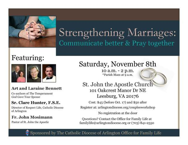Marriage Communication Workshop flyer