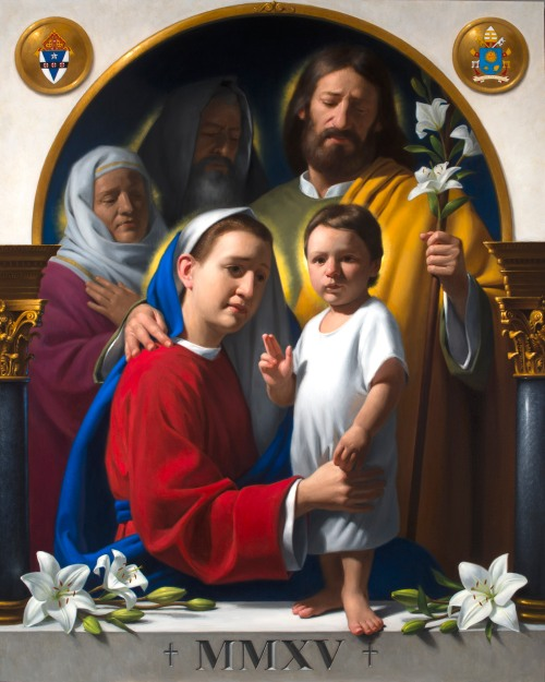 The Holy Family Iconic Painting for the World Meeting of Families – Philadelphia 2015, can help us think about, and feel emotions around, God and family. Neilson Carlin of Kennett Square, PA has been asked to create the Icon of the World Meeting of Families – Philadelphia 2015.