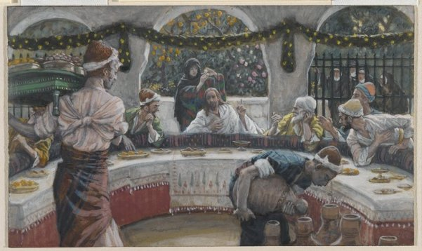The Meal in the House of the Pharisee by James Tissot, c. 1888 (Brooklyn Museum)