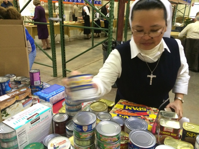 St. Lucy project Sister stacks donations