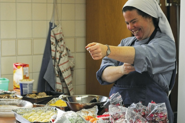 Sister Susannah is cooking