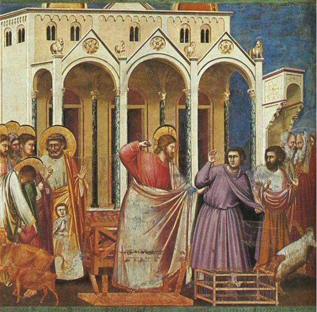 Expulsion of the Money-changers from the Temple – Giotto di Bondone, 1304-1306