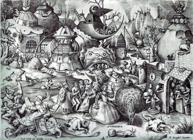 "Pieter Bruegel the Elder's ""The Seven Deadly Sins,"" or ""The Seven Vices - Pride,"" 1558"