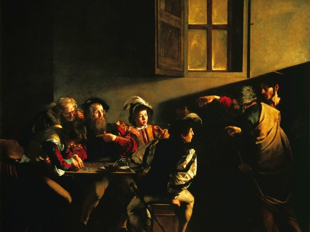 In this famous Caravaggio painting, The Calling of Saint Matthew, Jesus Christ is calling Matthew out of the only life he has known to a life he can hardly imagine. Are you being called to new life in Jesus Christ?