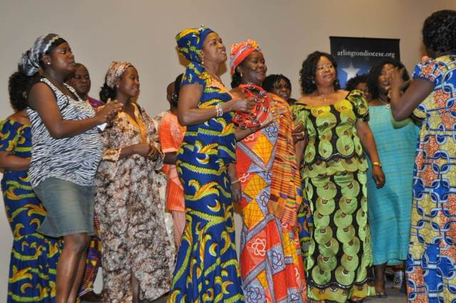 Ghanaian Catholic Women singing