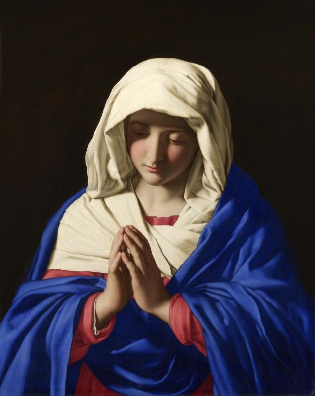 Sassoferrato, Jungfrun i bön (1640-1650). National Gallery, London.
