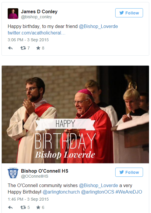 Click here to see a collage of well wishes to Bishop Loverde on his birthday!
